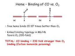 vezava monoksida na prosti hemoglobin